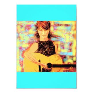 folksinger girl card