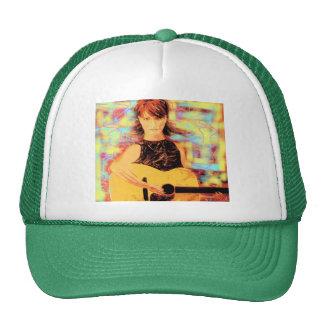 folksinger girl trucker hat