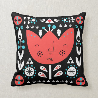 Folksy - colourful, reversible Pillow