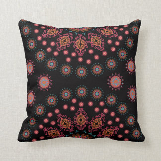 Folksy Floral Throw Pillow