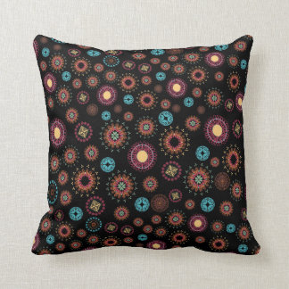 Folksy Jewel Coins Throw Cushion