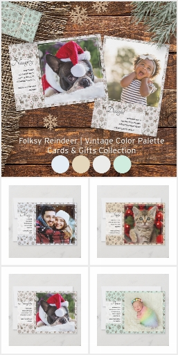 Folksy Woodland Reindeer Pattern Cards & Gifts