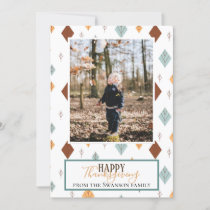 Folky Fall Photo Holiday Card