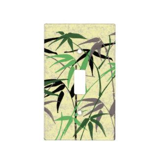 Follaje de bambú - tallos, hojas - amarillo verde tapas para interruptores