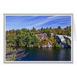 Follaje de otoño alrededor del lago Minnewaska Tarjeta De Felicitación