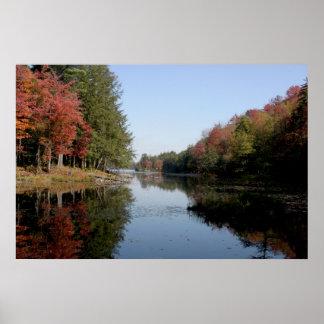 Follaje de otoño de Adirondack Póster