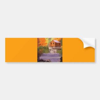 Follaje de otoño de Nueva Inglaterra Etiqueta De Parachoque
