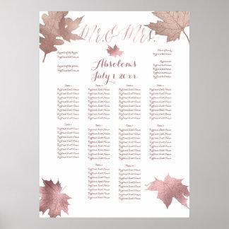 Follaje de otoño de PixDezines/falsa carta de Póster