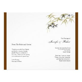 Follaje de otoño en programa del boda de Brown y Tarjetas Informativas