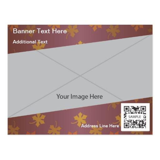 Follaje de otoño genérico de la plantilla de la tarjeta postal