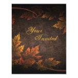 Follaje de otoño invitación 10,8 x 13,9 cm