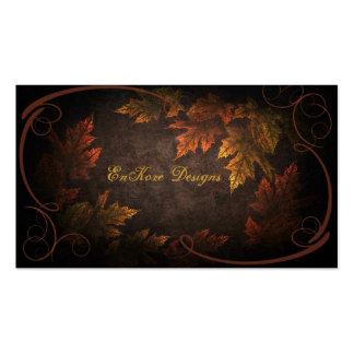 Follaje de otoño plantillas de tarjetas personales