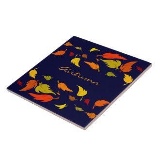 Follaje de otoño. Práctico de costa del regalo de  Azulejo Cuadrado Grande