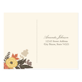 Follaje de otoño que casa la postal de RSVP (brill