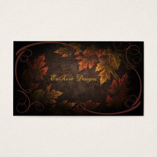Follaje de otoño tarjeta de negocios