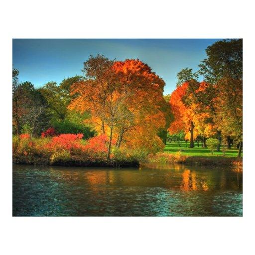 Follaje de otoño tarjetas publicitarias