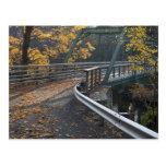 Follaje de otoño y un puente sobre los molineros postal