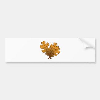 Follaje de roble oak leaves etiqueta de parachoque