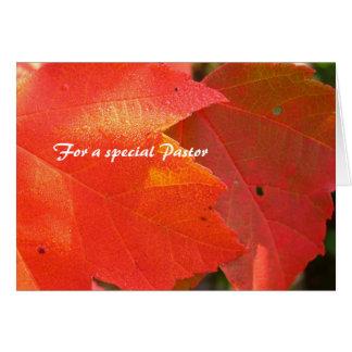Follaje del aprecio del pastor tarjeta de felicitación