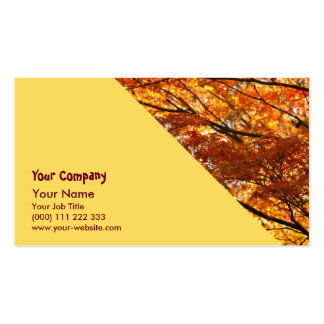 Follaje del árbol de arce plantillas de tarjetas de visita