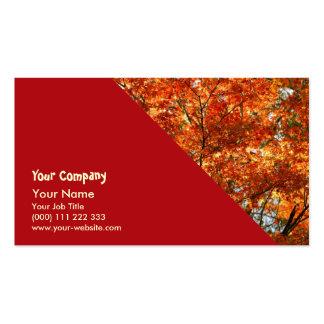 Follaje del árbol de arce tarjeta personal