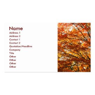 Follaje del árbol de arce tarjetas de negocios