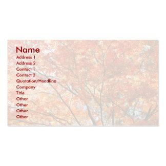 Follaje del árbol de arce tarjetas personales