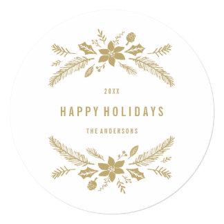 Follaje del invierno alrededor de la tarjeta de la invitacion personalizada