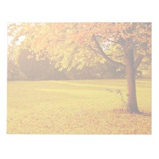 Follaje del otoño bloc de notas