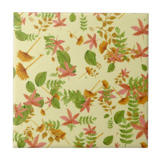 Follaje del otoño del vintage azulejo cuadrado pequeño