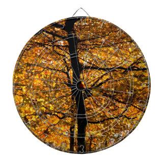 Follaje del otoño tablero de dardos