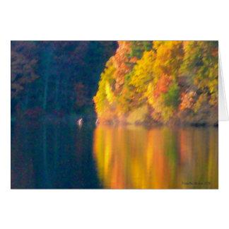 Follaje del otoño en la charca de Walden - Tarjeta De Felicitación