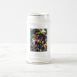 Follaje del otoño jarra de cerveza