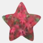 Follaje del otoño pegatina en forma de estrella