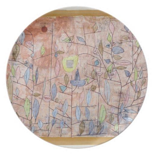 Follaje escaso de Paul Klee- Plato De Comida