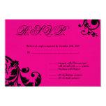 follaje floral de las rosas fuertes de la tarjeta invitación 8,9 x 12,7 cm
