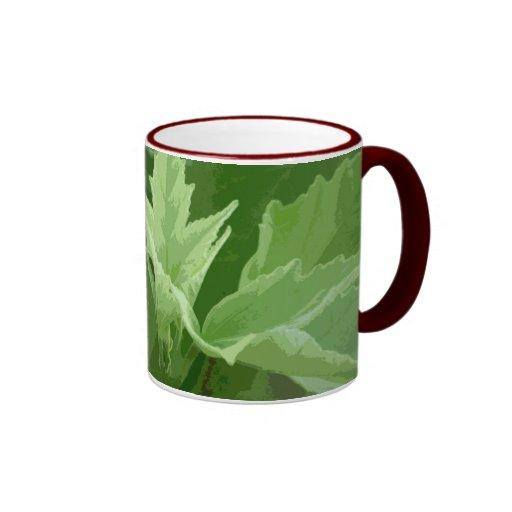 Follaje magnífico taza de dos colores