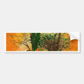 Follaje místico con el bambú, el ranúnculo y un pegatina de parachoque