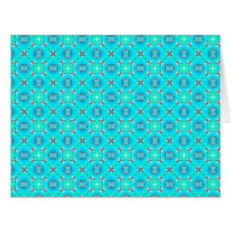 Follaje moderno del extracto azul elegante del tarjeta de felicitación grande