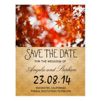 Follaje/reserva del otoño la fecha postal