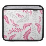 Follaje rosado y gris elegante del helecho funda para iPads