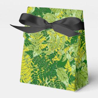 Follaje verde cajas para detalles de boda