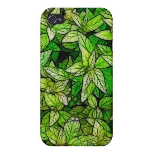 Follaje verde - caso del iPhone 4 iPhone 4 Protector