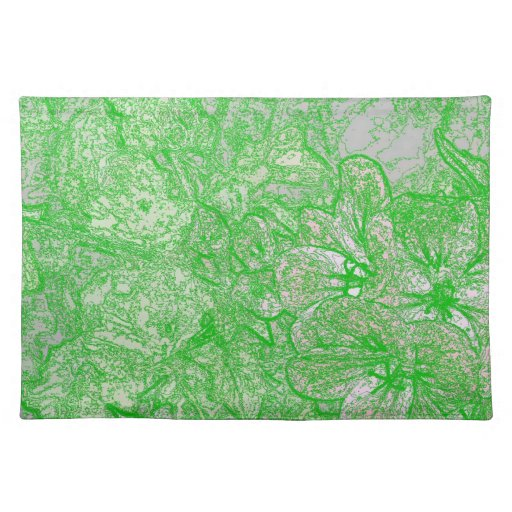 Follaje verde manteles individuales