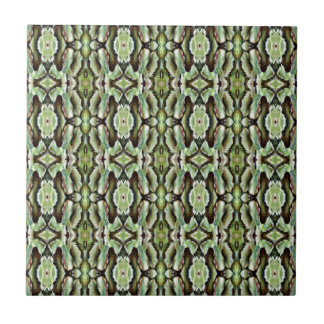 Follaje verde modelado azulejo cuadrado pequeño