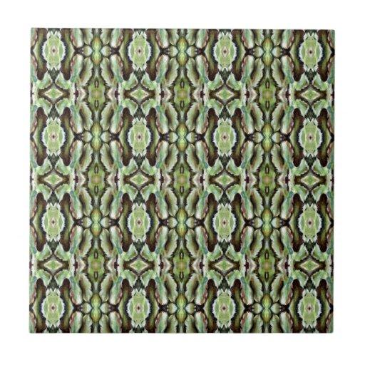 Follaje verde modelado tejas  cerámicas
