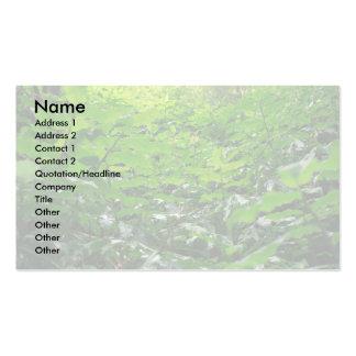 Follaje verde tarjetas de visita