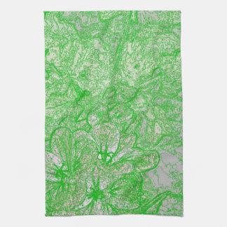Follaje verde toallas de cocina