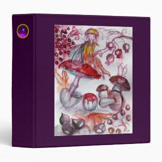 FOLLET OF MUSHROOMS Fantasy Red Purple Recipe 3 Ring Binder