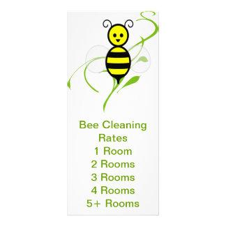 Folleto de las tarifas de servicio de la abeja tarjetas publicitarias personalizadas